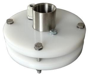 """głowica studni głębinowej 110 mm 1 1/2"""" z przyłączami ze stali nierdzewnej"""