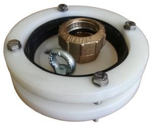 """głowica studni głębinowej 110 mm 1 1/4"""" z przyłączem itap na rurę PE40"""