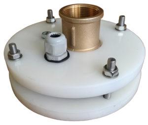 """głowica zamknięcie studni głębinowej 110 mm 1 1/4"""" z przyłączem itap na rurę PE40"""