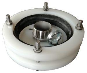 """głowica zamykająca do studni głębinowej 110mm 1"""" z przyłączami ze stali nierdzewnej"""