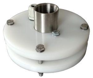 """głowica studni głębinowej 110 mm 1"""" z przyłączami ze stali nierdzewnej"""