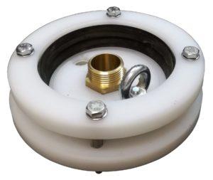 """głowica zamykająca do studni głębinowej 125mm 1"""" z przyłączami mosiężnymi"""