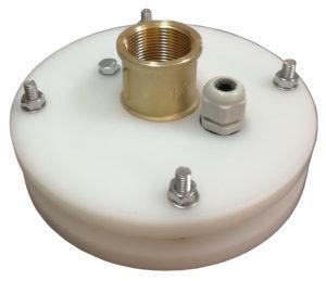 """głowica zamknięcie studni głębinowej 125 mm 1"""" z przyłączem itap na rurę PE32"""