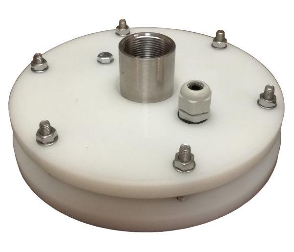 głowica studni głębinowej 160 mm z przyłączami ze stali nierdzewnej