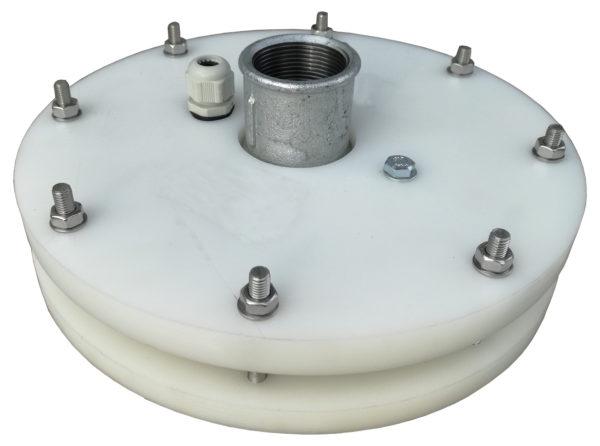 głowica zamykająca do studni głębinowej 200 mm 225 mm z przyłączami ocynkowanymi