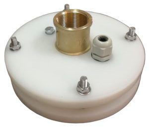 """głowica zamknięcie studni głębinowej 125 mm 1 1/4"""" z przyłączem itap na rurę PE40"""