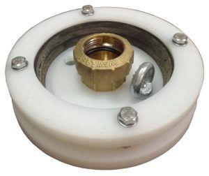 """głowica studni głębinowej 125 mm 1 1/4"""" z przyłączem itap na rurę PE40"""