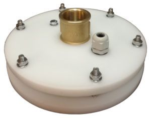 """zamknięcie do studni głebinowej 160 mm 1 1/4"""" z przyłączem mosiężnym itap PE40"""