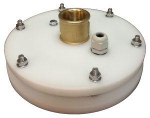 """głowica studni głębinowej 160 mm 1 1/2"""" z przyłączem mosiężnym"""