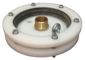"""głowica zamknięcie do studni głębinowej 160 mm 1 1/2"""" z przyłączem mosiężnym"""