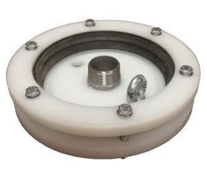 """głowica zamykająca do studni głębinowej 160 mm 1 1/2"""" z przyłączami ze stali nierdzewnej"""